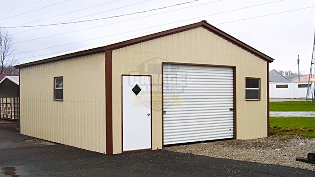 22x24 All Vertical Garage