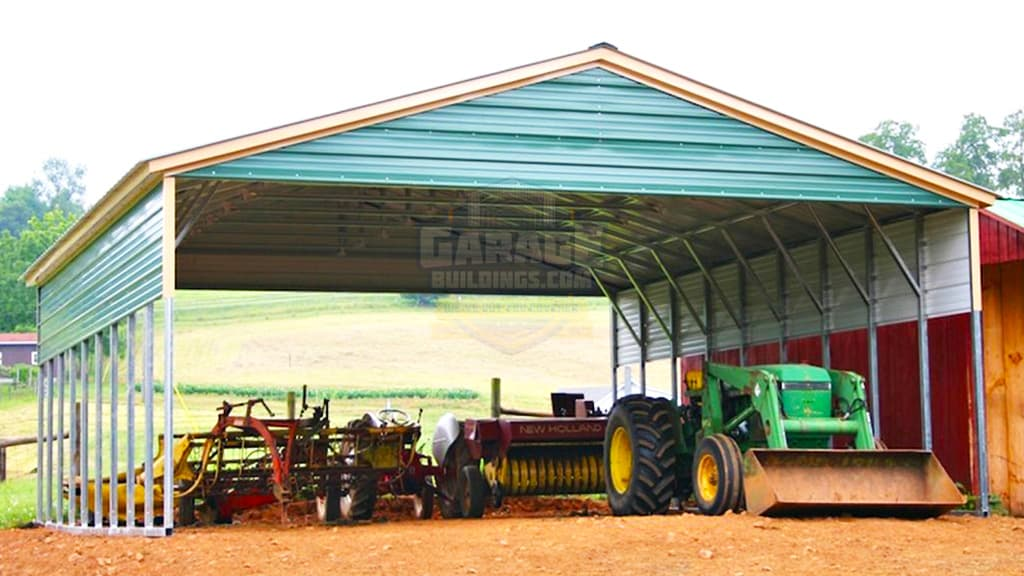 30x36 Vertical Roof Metal Carport