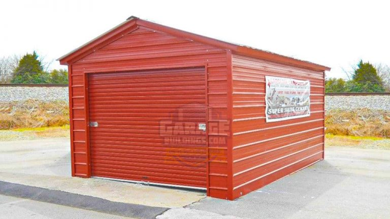 12x21 Enclosed Garage
