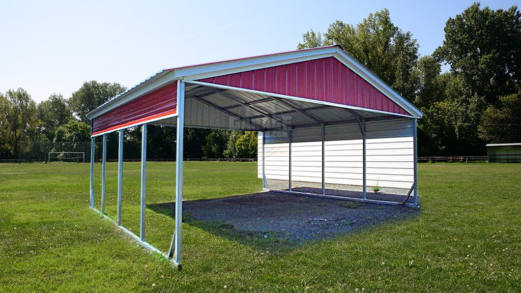 Buy Top Quality 2-car Metal Carports From Garage Buildings