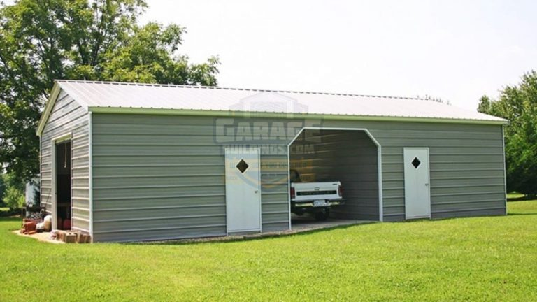 24x41 Metal Garage with Carport