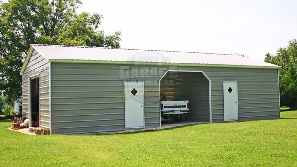 24x41 Metal Garage with Carport