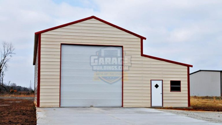 24x41 Metal Building With Enclosed Lean To