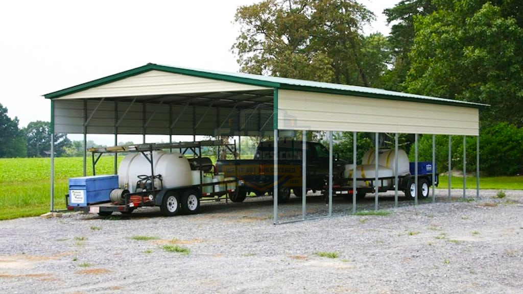 24x41 Vertical Roof Carport