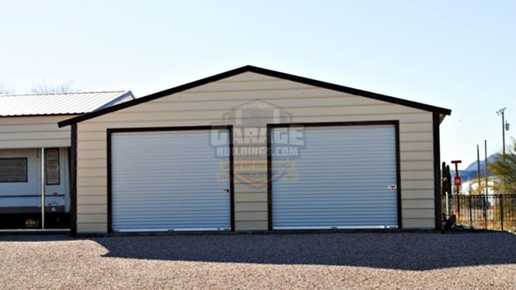26x31 Vertical Double Garage
