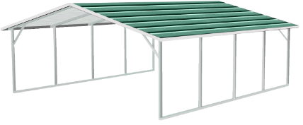 A-Frame Horizontal (Boxed Eave) Roof Style Metal Buildings