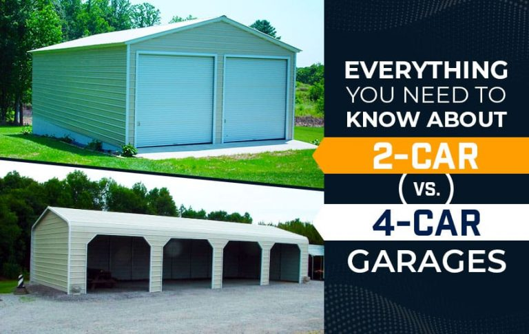 Everything You Need to Know about 2-Car vs. 4-Car Garages